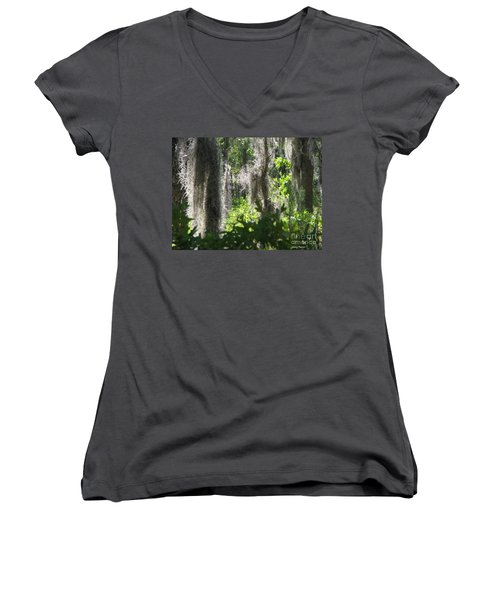 Women's V-Neck T-Shirt (Junior Cut) featuring the photograph Home by Greg Patzer