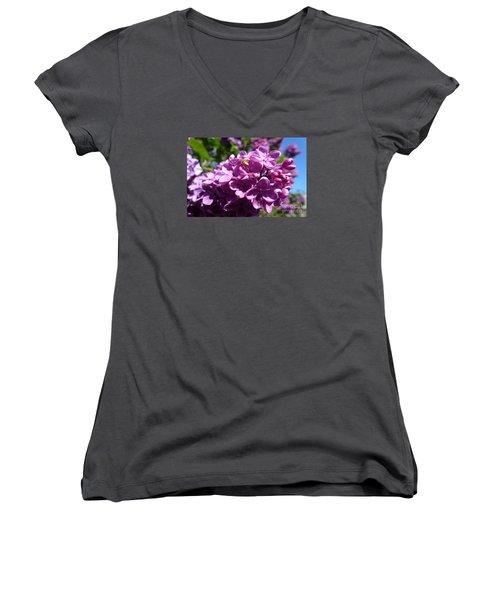 Home Of Spider Women's V-Neck T-Shirt (Junior Cut) by Jean Bernard Roussilhe