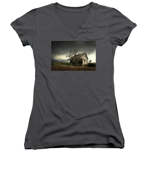Home On The Range Women's V-Neck (Athletic Fit)