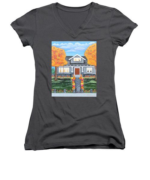 Home Sweet Home - Comes Autumn Women's V-Neck (Athletic Fit)