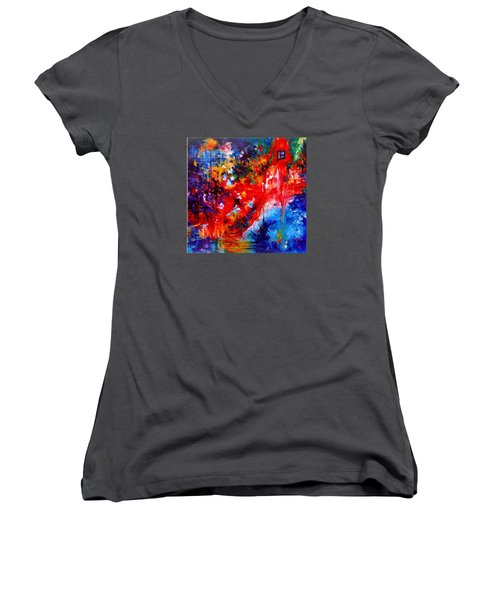 Home Sweet Home. Root Chakra. Series Healing Chakras. Women's V-Neck T-Shirt (Junior Cut) by Helen Kagan