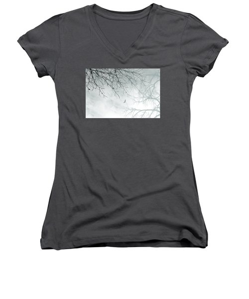 Women's V-Neck T-Shirt (Junior Cut) featuring the digital art Home by Trilby Cole