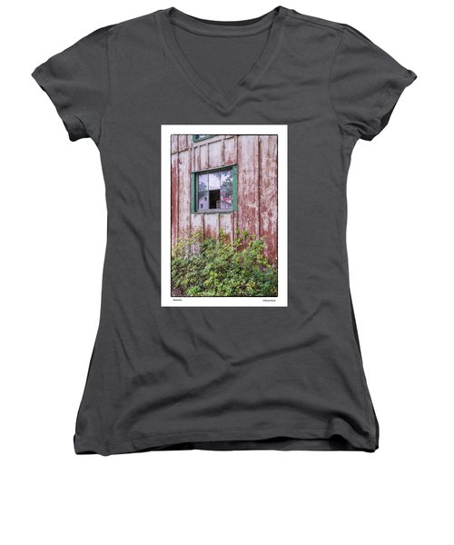 Women's V-Neck T-Shirt (Junior Cut) featuring the photograph Homestead by R Thomas Berner