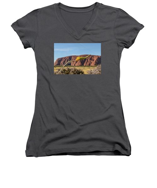Women's V-Neck T-Shirt featuring the photograph Honey Grevillea 01 by Werner Padarin