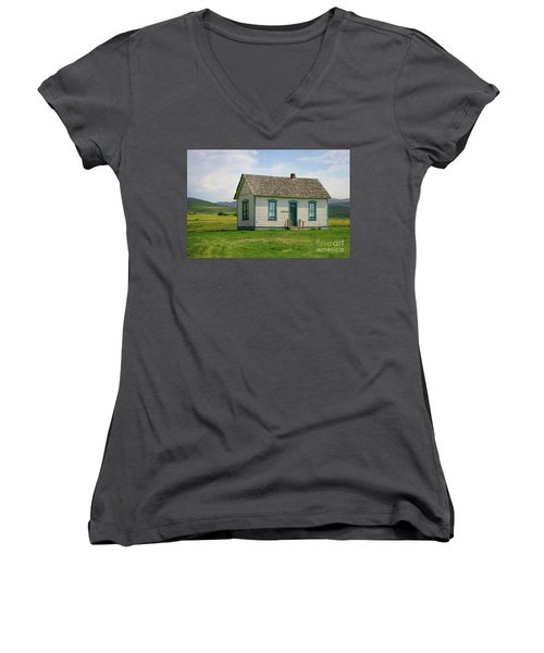 Honeymoon  Cabin Women's V-Neck (Athletic Fit)
