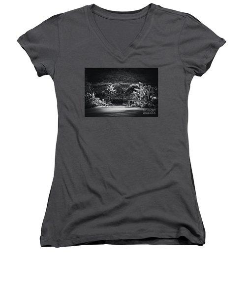 Women's V-Neck T-Shirt (Junior Cut) featuring the photograph Honokohau Maui Hawaii by Sharon Mau