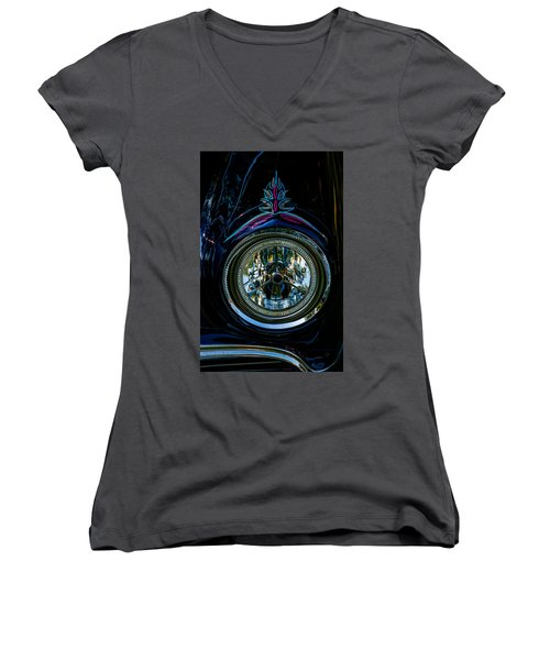 Women's V-Neck T-Shirt (Junior Cut) featuring the photograph Hood Wink 55 Lincoln by Trey Foerster