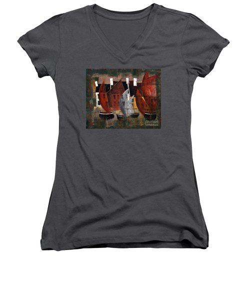 Hookers In The Cladagh Women's V-Neck T-Shirt