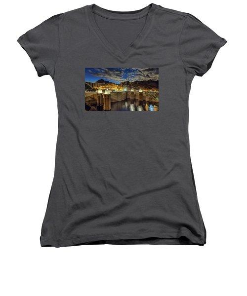Hoover Dam Women's V-Neck T-Shirt