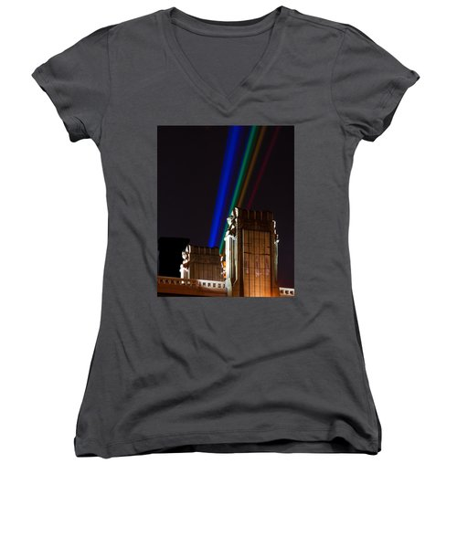 Hope Memorial Bridge, Aha Lights Women's V-Neck