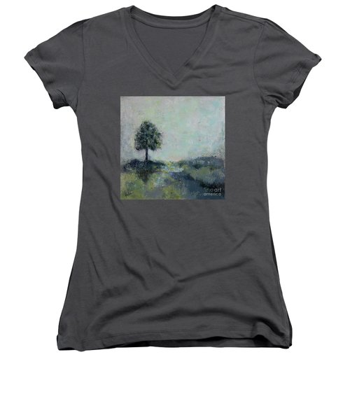 Hope On The Horizo Women's V-Neck (Athletic Fit)