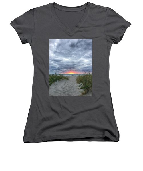Hope On The Horizon Delray Beach Florida  Women's V-Neck (Athletic Fit)