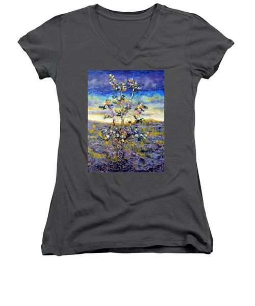 Hope Women's V-Neck T-Shirt (Junior Cut) by Regina Valluzzi