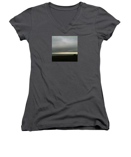 Horizon Light Women's V-Neck T-Shirt (Junior Cut) by Anne Kotan