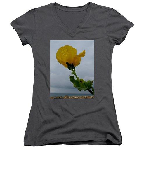 Horned Poppy Women's V-Neck T-Shirt