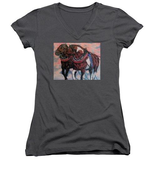 Horse Power Women's V-Neck (Athletic Fit)