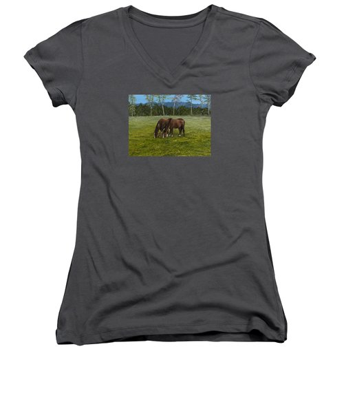 Horses Of Romance Women's V-Neck (Athletic Fit)