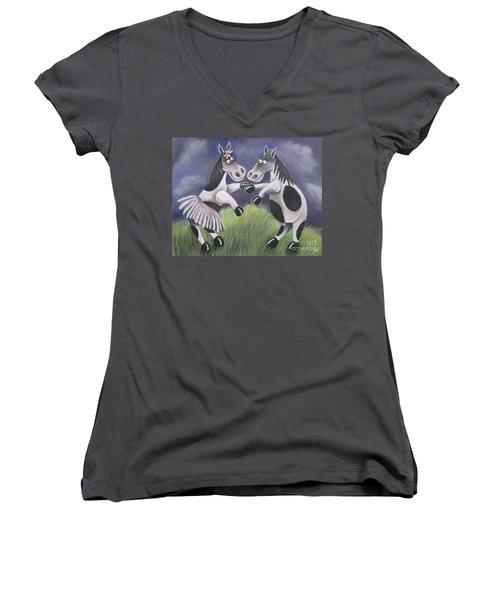 Horsing Around Women's V-Neck T-Shirt