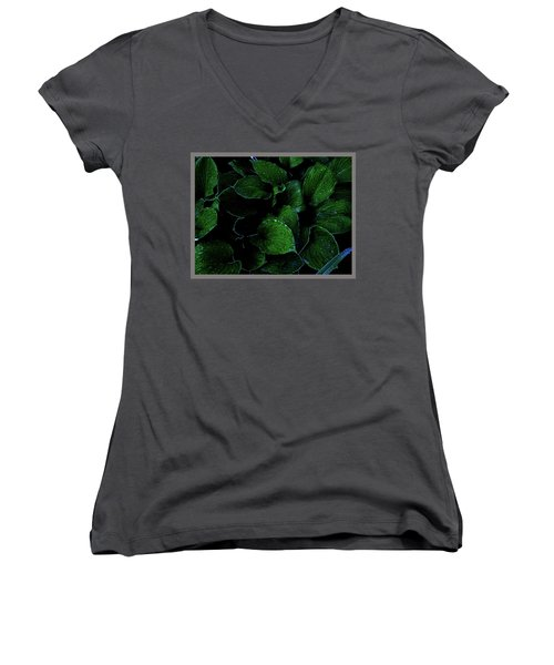 Hostas After The Rain II Women's V-Neck (Athletic Fit)