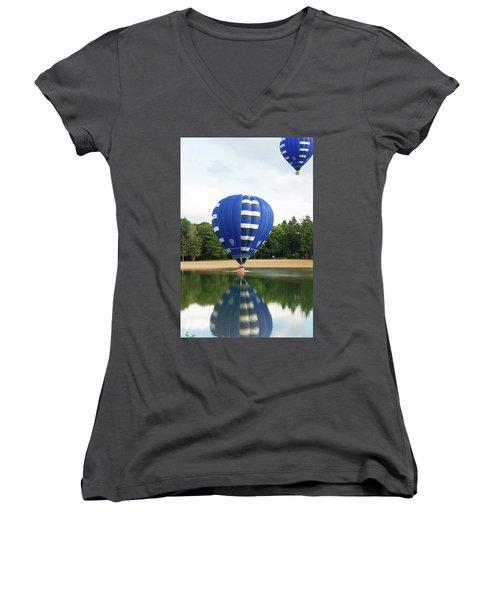 Hot Air Balloon Women's V-Neck T-Shirt