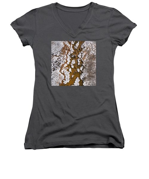 Hot Cascades Abstract Women's V-Neck (Athletic Fit)
