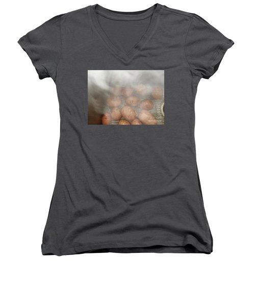 Hot Potato Women's V-Neck T-Shirt (Junior Cut) by Kim Nelson