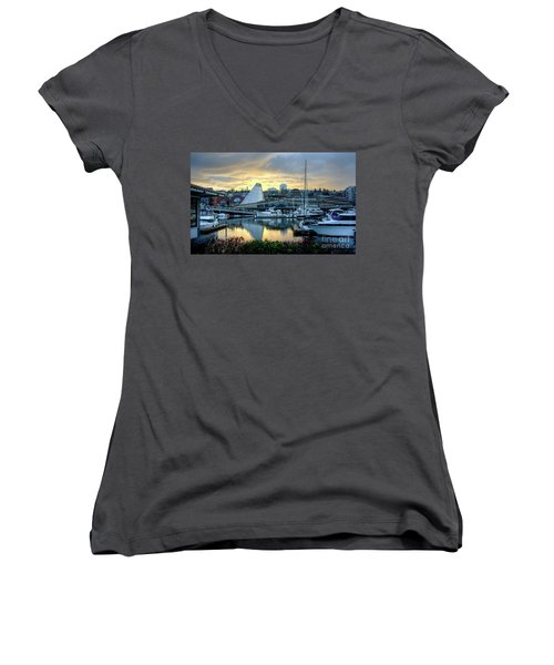 Hot Shop Cone Cloudy Twilight Women's V-Neck T-Shirt (Junior Cut) by Chris Anderson