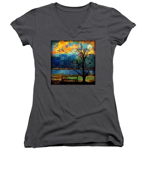 Hot Summer Nights Women's V-Neck T-Shirt