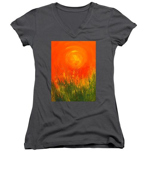 Hot Sun Women's V-Neck T-Shirt