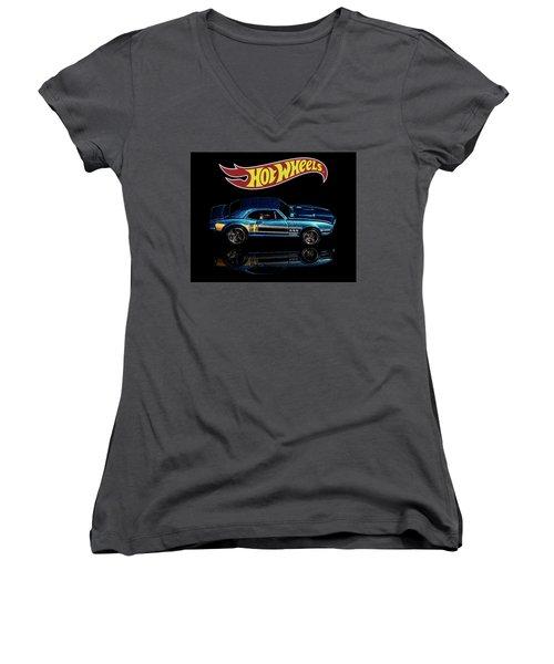 Hot Wheels '67 Pontiac Firebird 400-1 Women's V-Neck