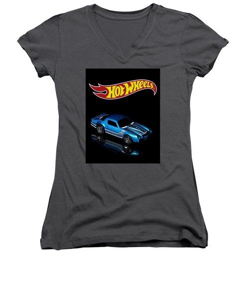 Hot Wheels 67 Pontiac Firebird 400-3 Women's V-Neck