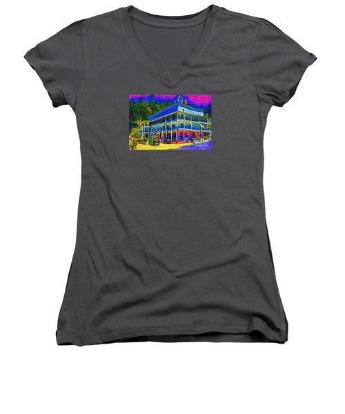 Hotel De Haro Women's V-Neck T-Shirt