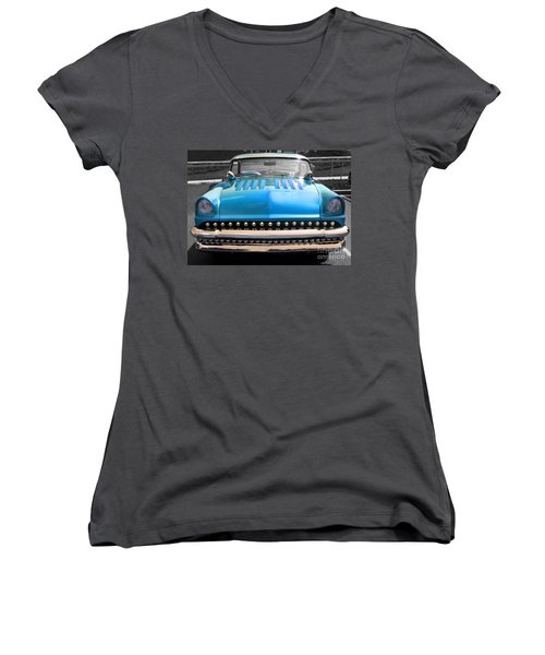 Women's V-Neck T-Shirt (Junior Cut) featuring the photograph Hotrod  by Raymond Earley