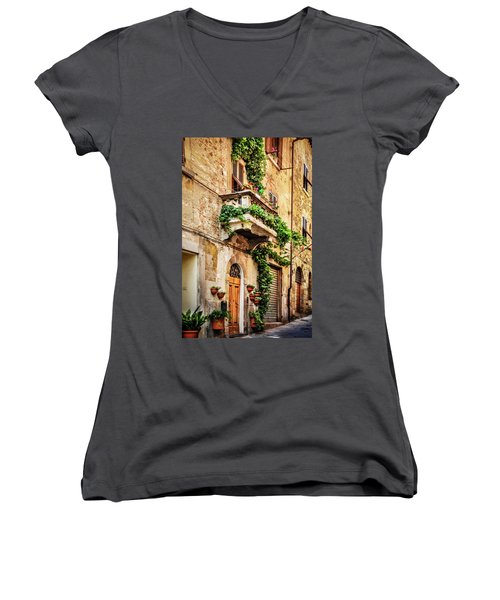 House In Arezzoo, Italy Women's V-Neck (Athletic Fit)