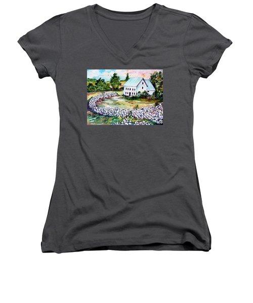 House In Bosnia H Kalinovik Women's V-Neck T-Shirt (Junior Cut) by Roberto Gagliardi
