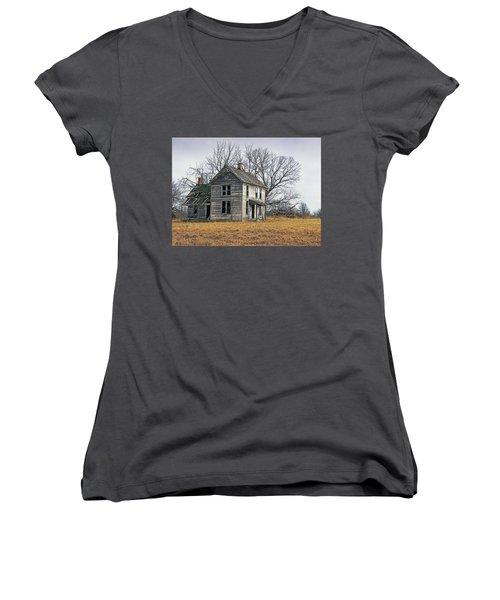 House Of Kansas Past Women's V-Neck (Athletic Fit)