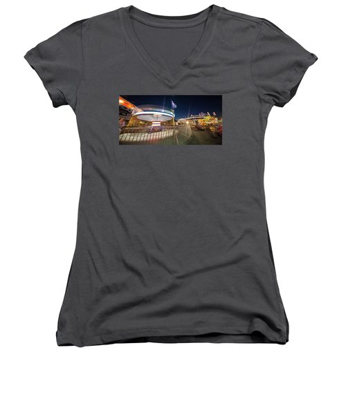 Houston Texas Live Stock Show And Rodeo #11 Women's V-Neck T-Shirt (Junior Cut) by Micah Goff