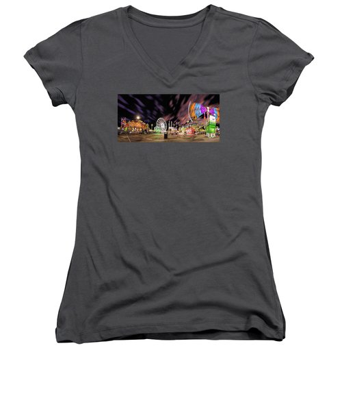 Houston Texas Live Stock Show And Rodeo #4 Women's V-Neck T-Shirt (Junior Cut) by Micah Goff