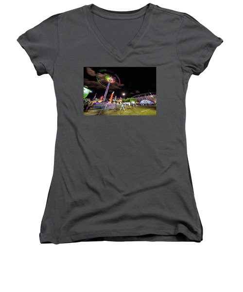 Houston Texas Live Stock Show And Rodeo #7 Women's V-Neck T-Shirt (Junior Cut) by Micah Goff