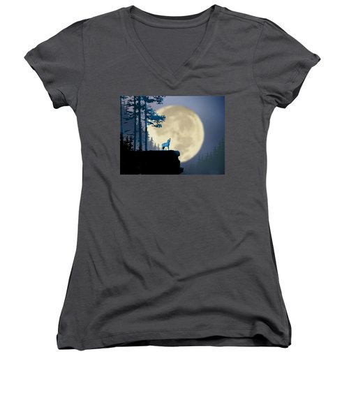 Howling Coyote Women's V-Neck T-Shirt