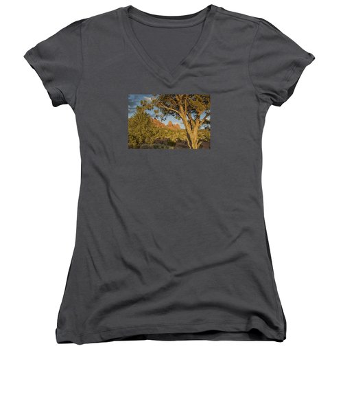Huckabee Women's V-Neck T-Shirt (Junior Cut) by Tom Kelly