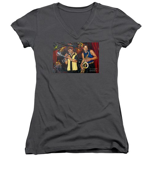 Hud N Lew/ The Daddyo Brothers Women's V-Neck (Athletic Fit)