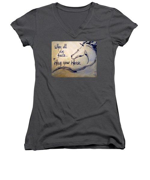 Hug Your Horse Women's V-Neck T-Shirt