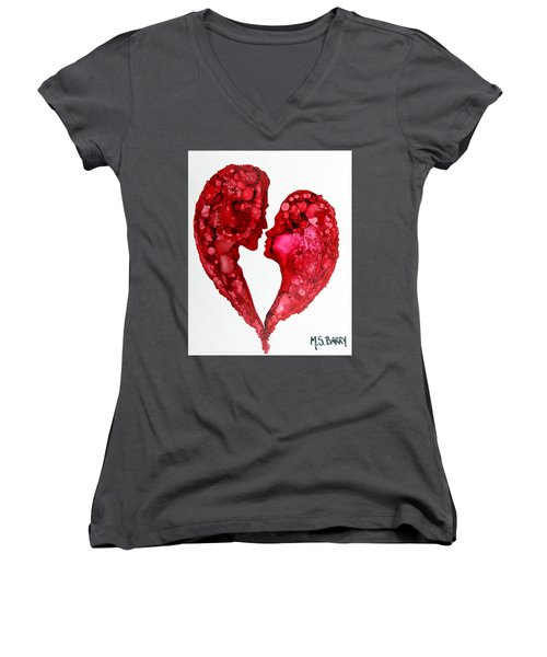 Human Heart Women's V-Neck (Athletic Fit)
