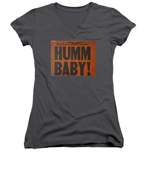 Humm Baby Examiner Women's V-Neck (Athletic Fit)