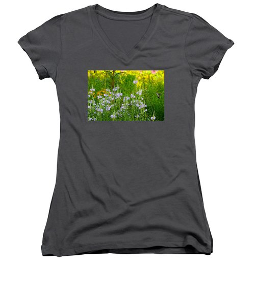 Hummingbird Heaven Women's V-Neck