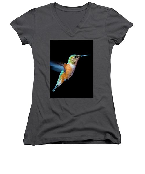 Hummming Bird Women's V-Neck (Athletic Fit)