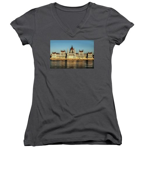 Hungarian National Parliament Women's V-Neck