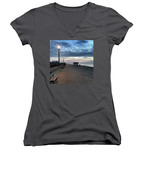 Hunstanton At 5pm Today  #sea #beach Women's V-Neck (Athletic Fit)