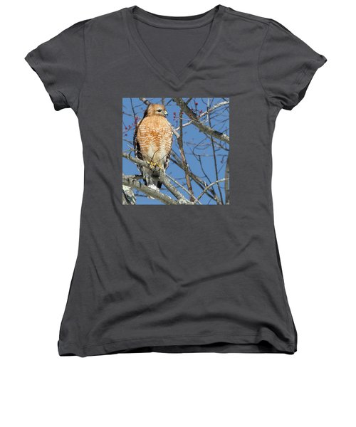 Women's V-Neck T-Shirt (Junior Cut) featuring the photograph Hunter Square by Bill Wakeley